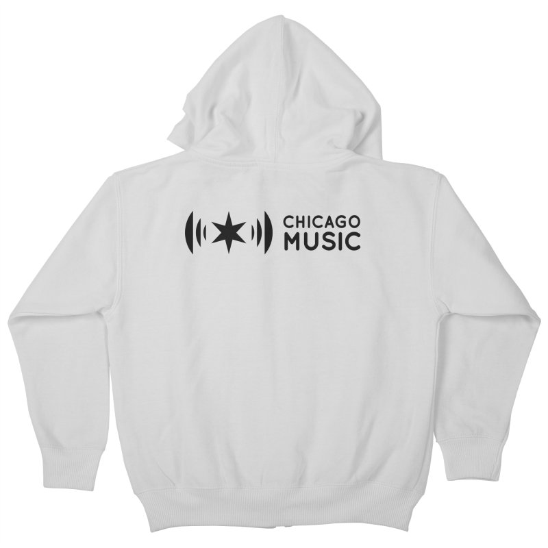 Chicago Music Logo Stack Black Kids Zip-Up Hoody by Chicago Music's Apparel and Retail Shop