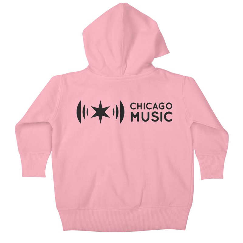 Chicago Music Logo Stack Black Kids Baby Zip-Up Hoody by Chicago Music's Apparel and Retail Shop