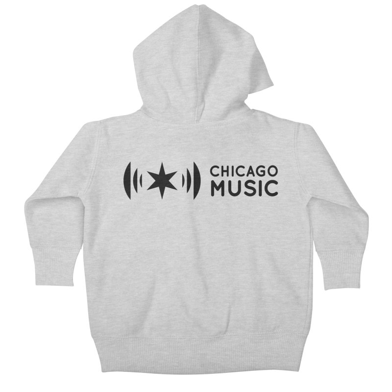 Chicago Music Logo Stack Black Kids Baby Zip-Up Hoody by Chicago Music's Artist Shop