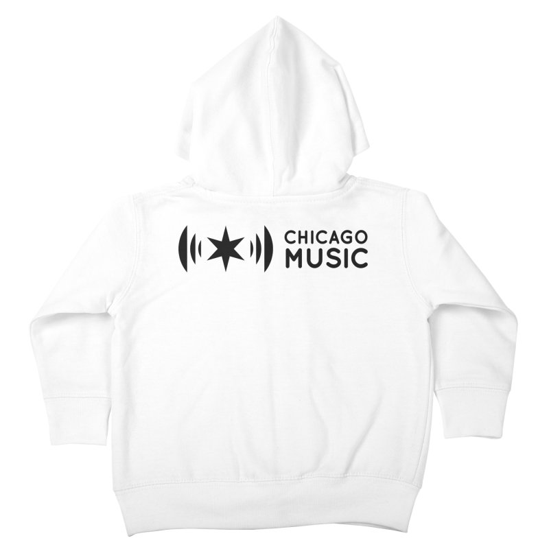 Chicago Music Logo Stack Black Kids Toddler Zip-Up Hoody by Chicago Music's Apparel and Retail Shop