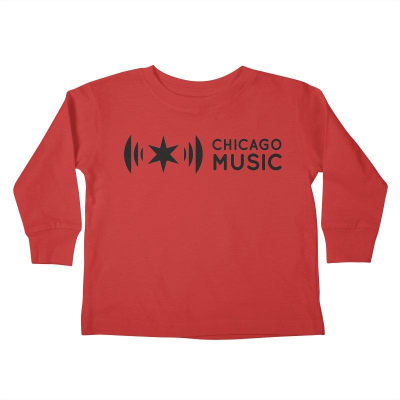 Chicago Music Logo Stack Black Kids Toddler Longsleeve T-Shirt by Chicago Music's Artist Shop