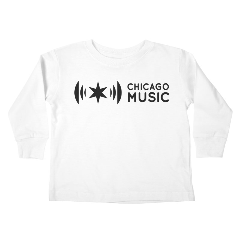 Chicago Music Logo Stack Black Kids Toddler Longsleeve T-Shirt by Chicago Music's Apparel and Retail Shop