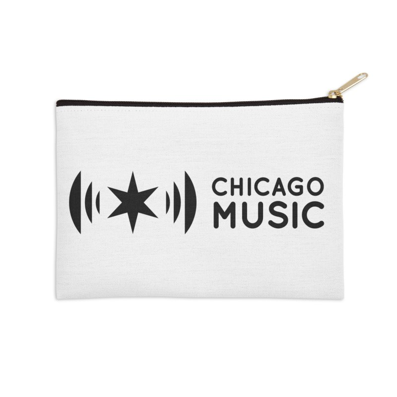 Chicago Music Logo Stack Black Accessories Zip Pouch by Chicago Music's Apparel and Retail Shop