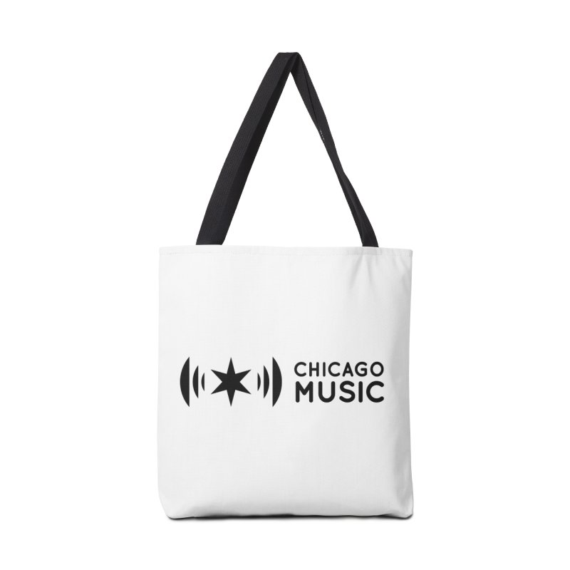 Chicago Music Logo Stack Black Accessories Tote Bag Bag by Chicago Music's Apparel and Retail Shop