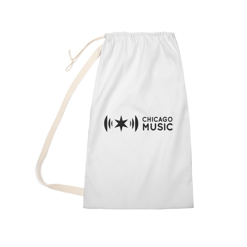 Chicago Music Logo Stack Black Accessories Laundry Bag Bag by Chicago Music's Apparel and Retail Shop
