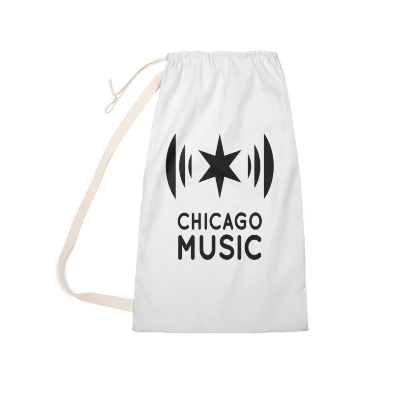 Chicago Music Logo Black Accessories Laundry Bag Bag by Chicago Music's Apparel and Retail Shop