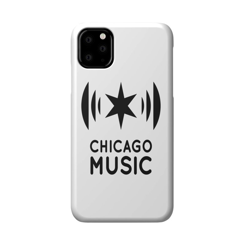 Chicago Music Logo Black Accessories Phone Case by Chicago Music's Apparel and Retail Shop
