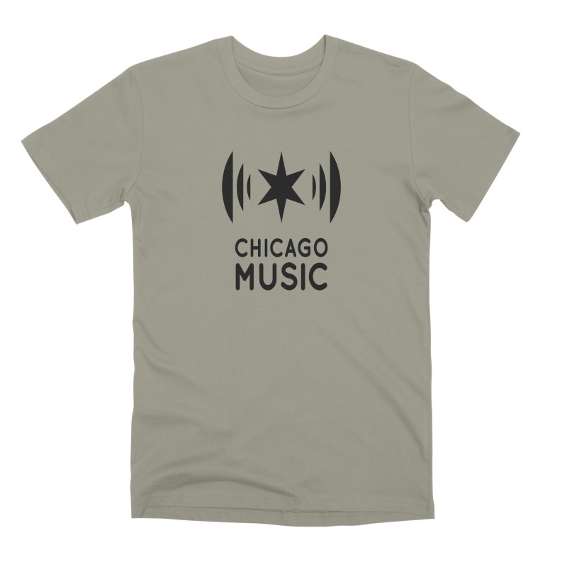 Chicago Music Logo Black Men's Premium T-Shirt by Chicago Music's Apparel and Retail Shop
