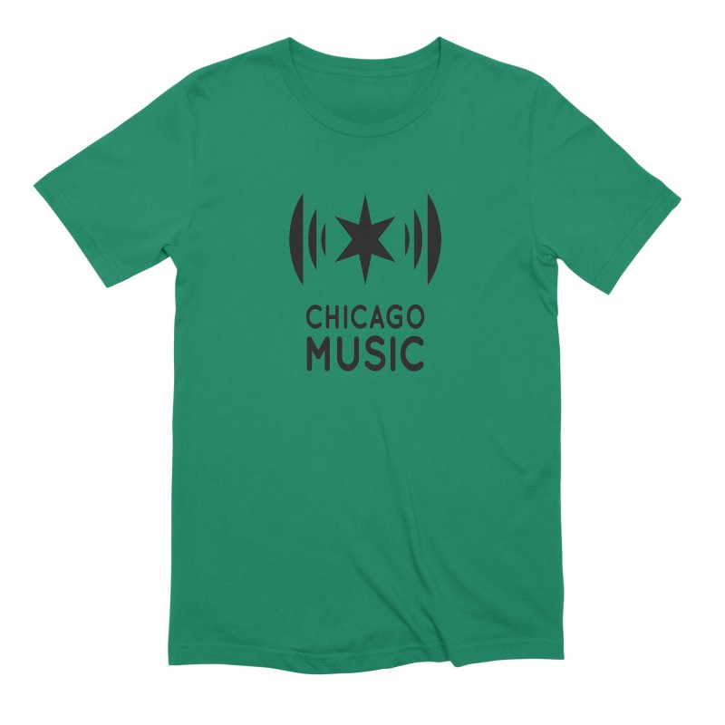 Chicago Music Logo Black Men's Extra Soft T-Shirt by Chicago Music's Apparel and Retail Shop