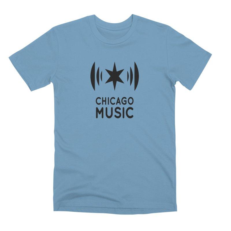 Chicago Music Logo Black Men's Premium T-Shirt by Chicago Music's Apparel and Retail Shop