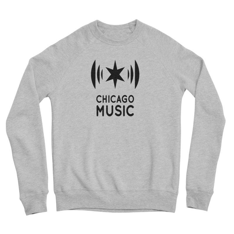 Chicago Music Logo Black Men's Sponge Fleece Sweatshirt by Chicago Music's Apparel and Retail Shop
