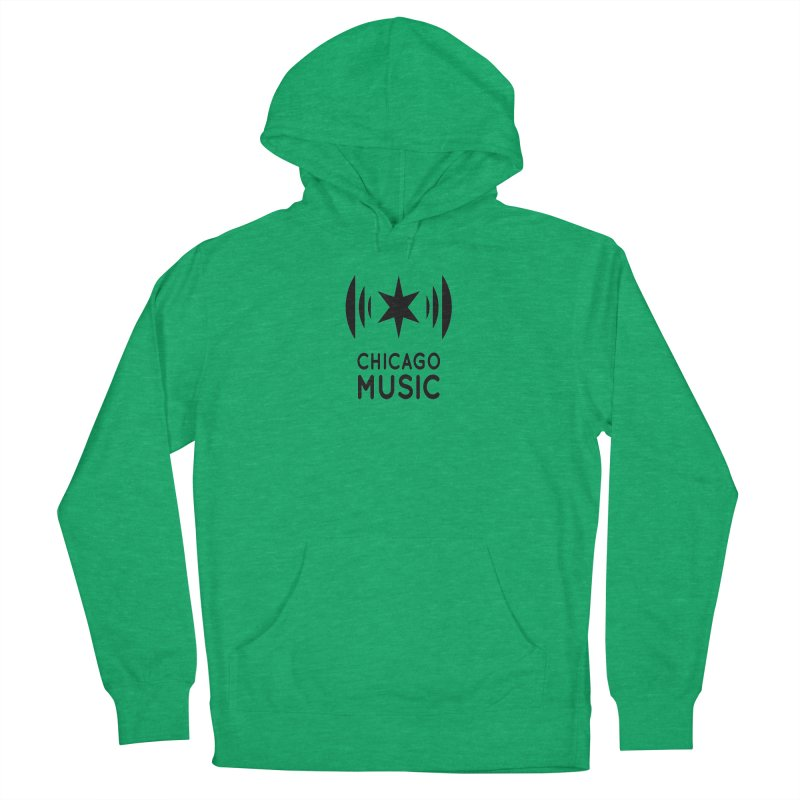 Chicago Music Logo Black Men's French Terry Pullover Hoody by Chicago Music's Apparel and Retail Shop