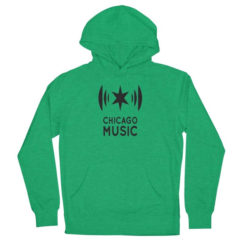 Chicago Music Logo Black Women's Pullover Hoody by Chicago Music's Artist Shop