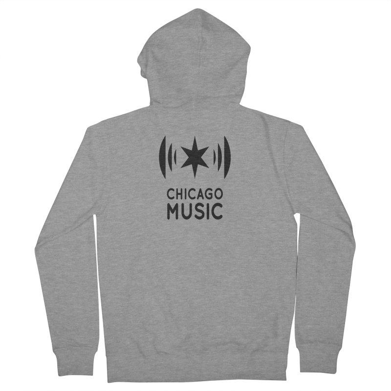 Chicago Music Logo Black Men's Zip-Up Hoody by Chicago Music's Artist Shop
