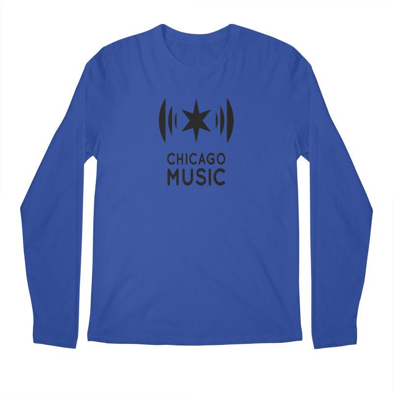Chicago Music Logo Black Men's Longsleeve T-Shirt by Chicago Music's Artist Shop