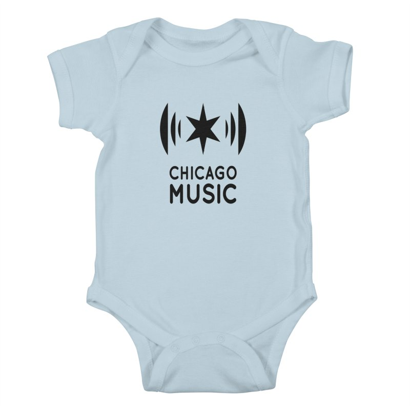 Chicago Music Logo Black Kids Baby Bodysuit by Chicago Music's Artist Shop