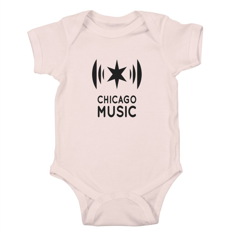 Chicago Music Logo Black Kids Baby Bodysuit by Chicago Music's Apparel and Retail Shop