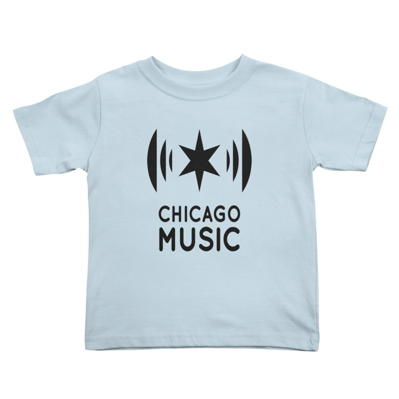 Chicago Music Logo Black Kids Toddler T-Shirt by Chicago Music's Apparel and Retail Shop