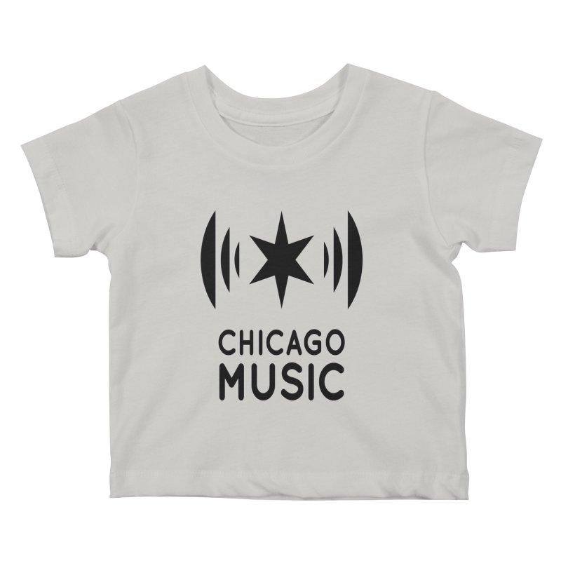 Chicago Music Logo Black Kids Baby T-Shirt by Chicago Music's Artist Shop