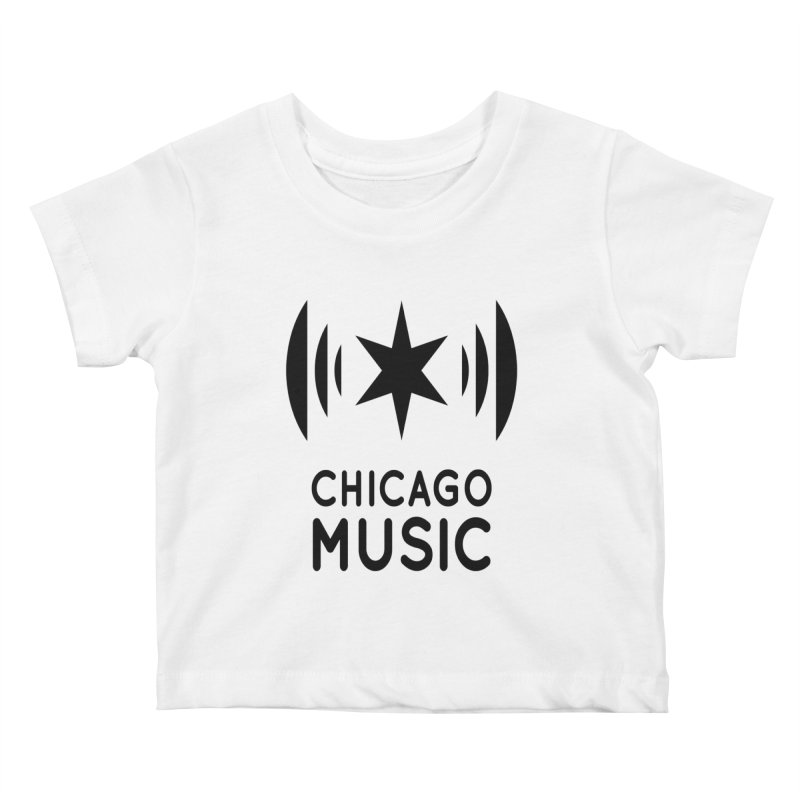 Chicago Music Logo Black Kids Baby T-Shirt by Chicago Music's Apparel and Retail Shop