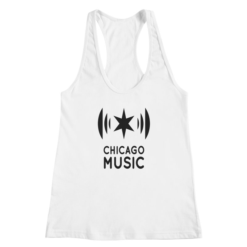 Chicago Music Logo Black Women's Tank by Chicago Music's Apparel and Retail Shop