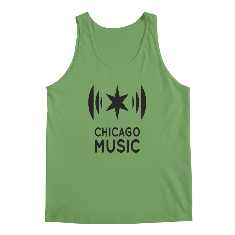 Chicago Music Logo Black Men's Tank by Chicago Music's Apparel and Retail Shop