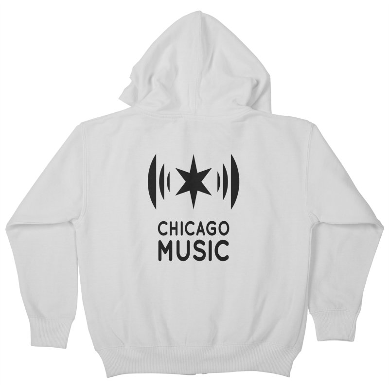 Chicago Music Logo Black Kids Zip-Up Hoody by Chicago Music's Artist Shop