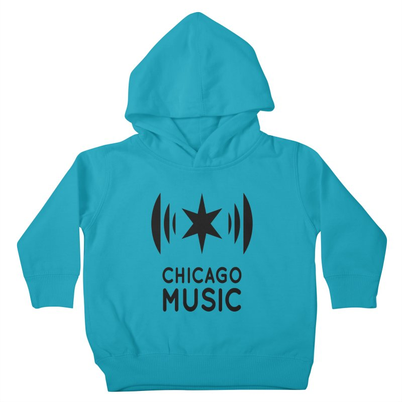 Chicago Music Logo Black Kids Toddler Pullover Hoody by Chicago Music's Apparel and Retail Shop