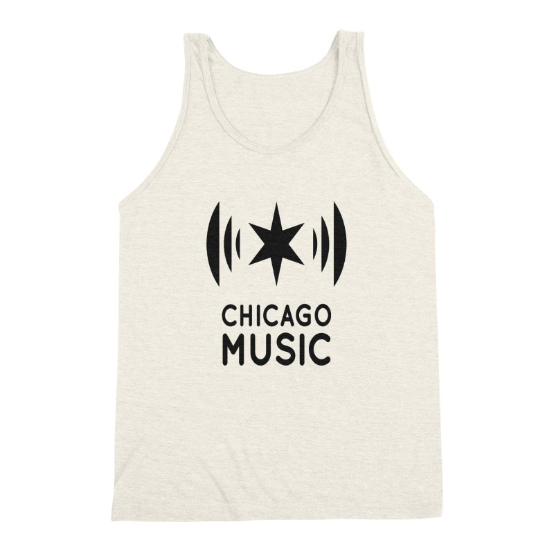 Chicago Music Logo Black Men's Triblend Tank by Chicago Music's Apparel and Retail Shop