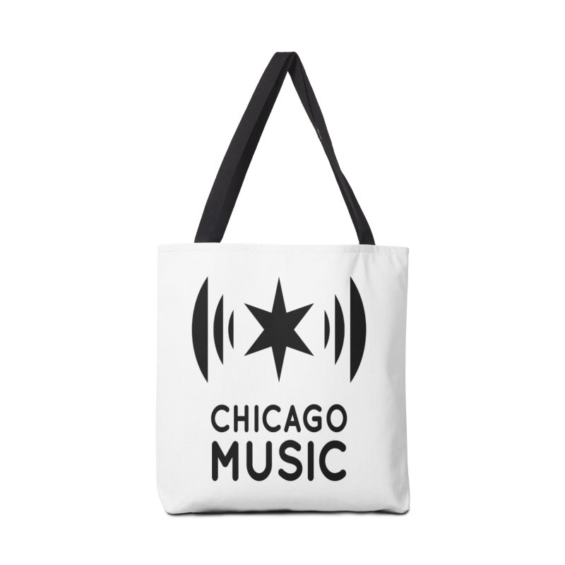 Chicago Music Logo Black Accessories Tote Bag Bag by Chicago Music's Apparel and Retail Shop