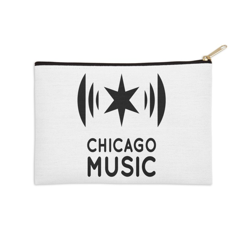 Chicago Music Logo Black Accessories Zip Pouch by Chicago Music's Apparel and Retail Shop