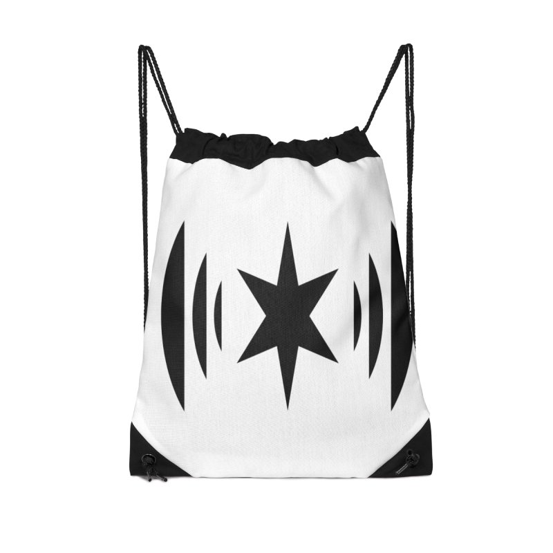 Chicago Music Black Logo Accessories Drawstring Bag Bag by Chicago Music's Apparel and Retail Shop