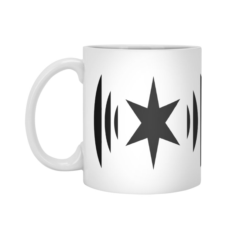 Chicago Music Black Logo Accessories Mug by Chicago Music's Apparel and Retail Shop
