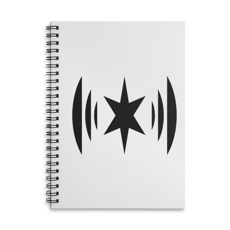 Chicago Music Black Logo Accessories Notebook by Chicago Music's Apparel and Retail Shop