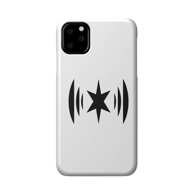 Chicago Music Black Logo Accessories Phone Case by Chicago Music's Apparel and Retail Shop