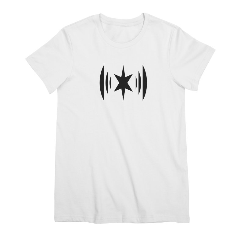 Chicago Music Black Logo Women's Premium T-Shirt by Chicago Music's Apparel and Retail Shop