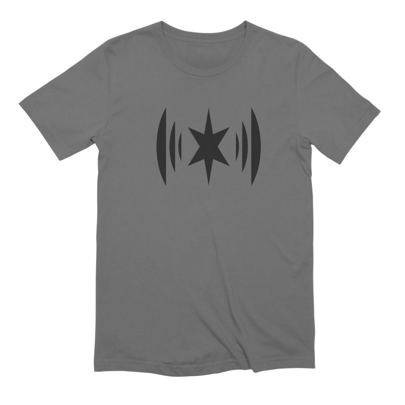 Chicago Music Black Logo Men's T-Shirt by Chicago Music's Apparel and Retail Shop