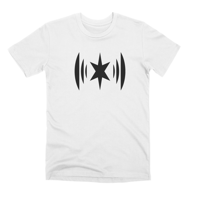 Chicago Music Black Logo Men's Premium T-Shirt by Chicago Music's Apparel and Retail Shop