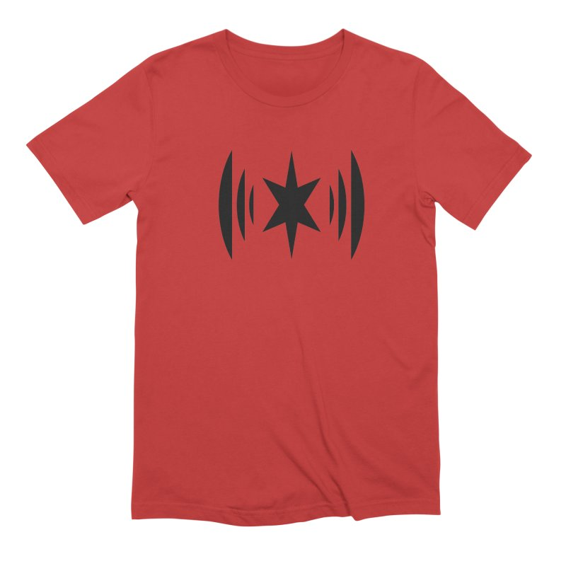 Chicago Music Black Logo Men's Extra Soft T-Shirt by Chicago Music's Apparel and Retail Shop