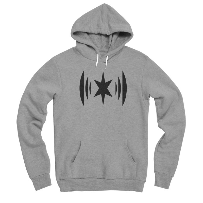 Chicago Music Black Logo Men's Sponge Fleece Pullover Hoody by Chicago Music's Apparel and Retail Shop
