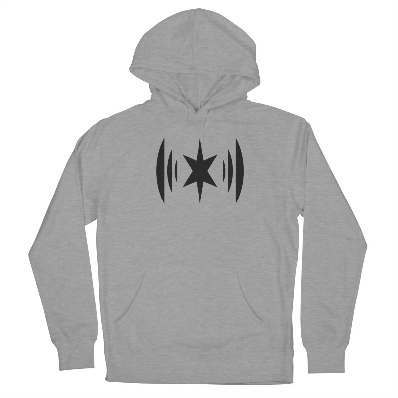Chicago Music Black Logo Men's French Terry Pullover Hoody by Chicago Music's Apparel and Retail Shop