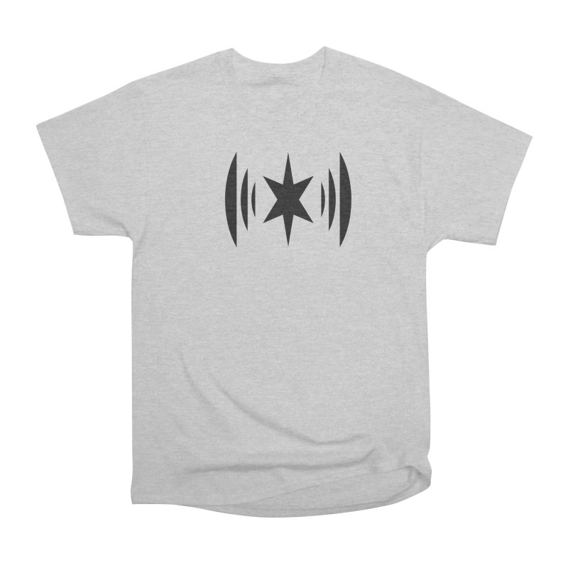 Chicago Music Black Logo Women's Heavyweight Unisex T-Shirt by Chicago Music's Apparel and Retail Shop