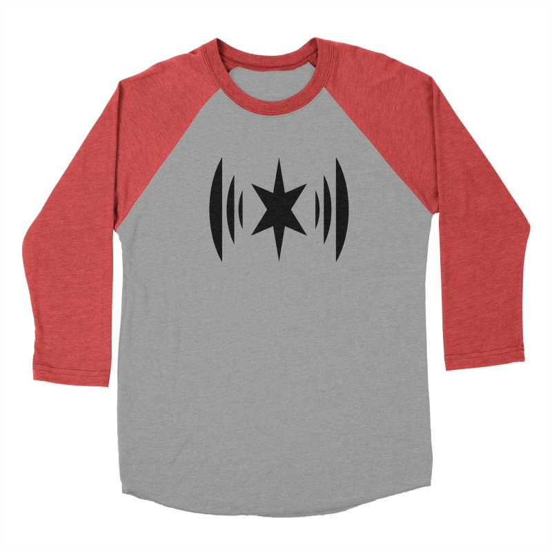 Chicago Music Black Logo Women's Baseball Triblend Longsleeve T-Shirt by Chicago Music's Apparel and Retail Shop