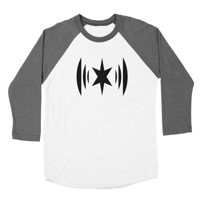 Chicago Music Black Logo Men's Baseball Triblend Longsleeve T-Shirt by Chicago Music's Apparel and Retail Shop