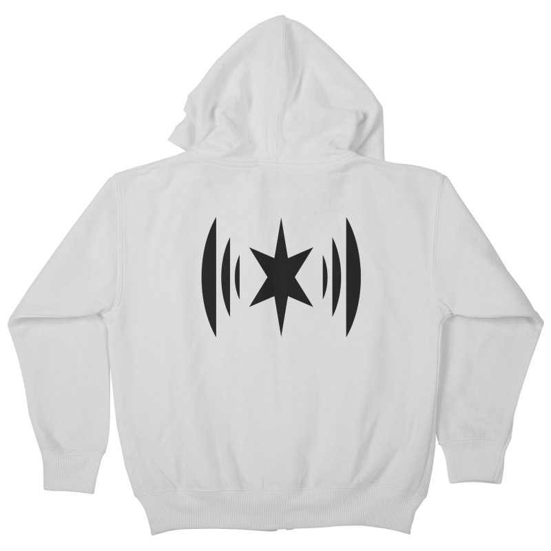 Chicago Music Black Logo Kids Zip-Up Hoody by Chicago Music's Apparel and Retail Shop