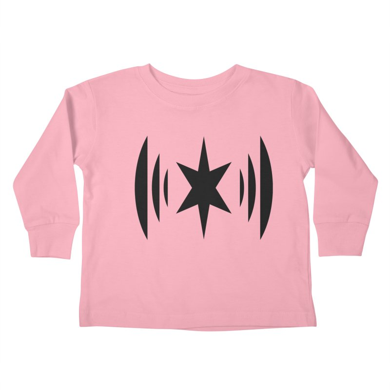 Chicago Music Black Logo Kids Toddler Longsleeve T-Shirt by Chicago Music's Apparel and Retail Shop