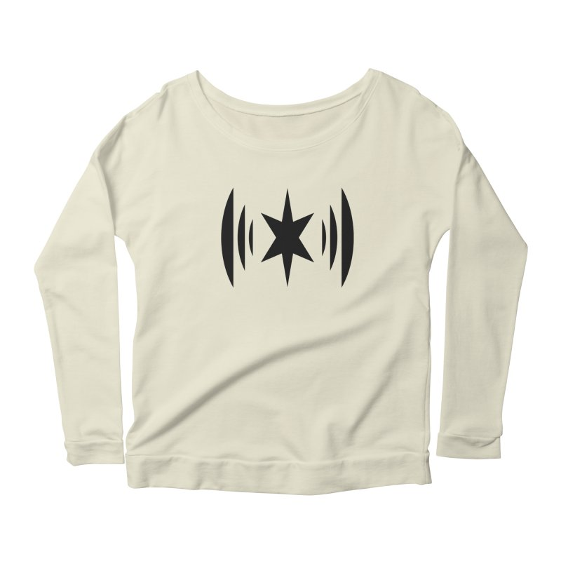 Chicago Music Black Logo Women's Longsleeve Scoopneck  by Chicago Music's Apparel and Retail Shop