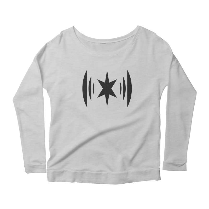 Chicago Music Black Logo Women's Longsleeve T-Shirt by Chicago Music's Apparel and Retail Shop