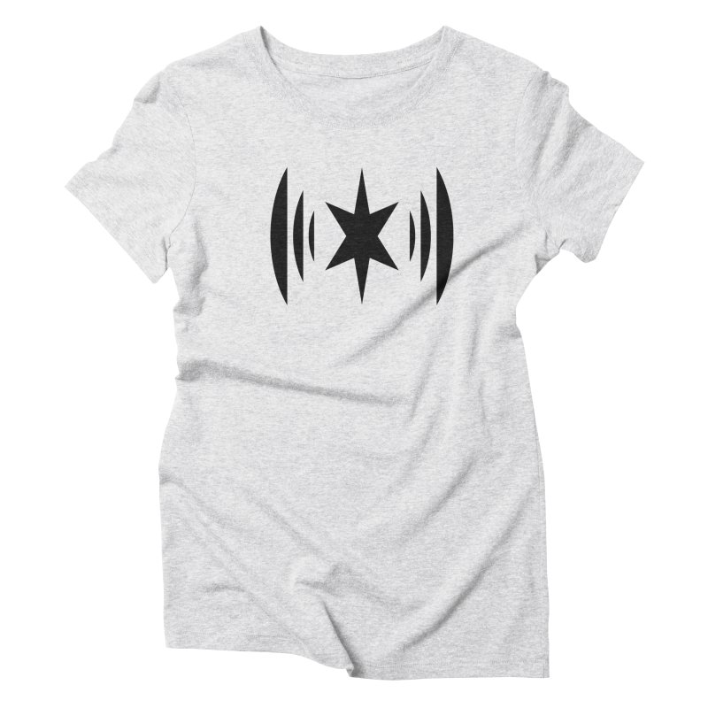 Chicago Music Black Logo Women's Triblend T-Shirt by Chicago Music's Apparel and Retail Shop