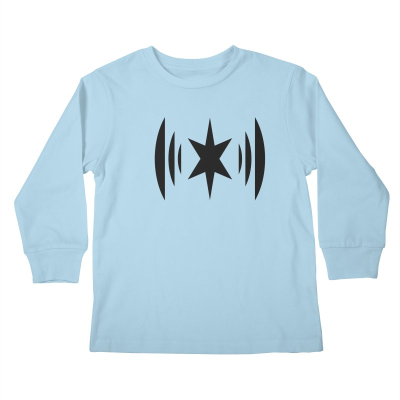 Chicago Music Black Logo Kids Longsleeve T-Shirt by Chicago Music's Apparel and Retail Shop